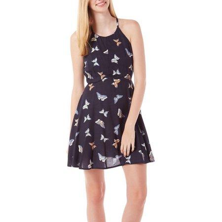 Bailey Blue Juniors Butterfly Print Dress