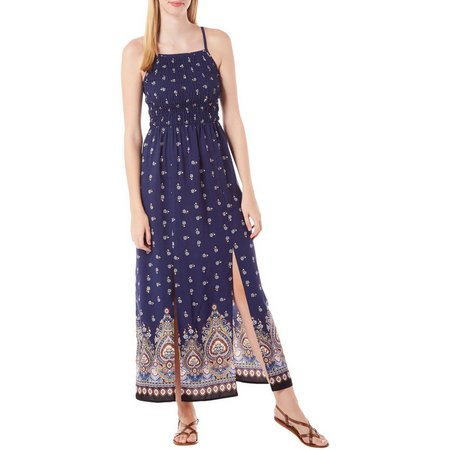 Bailey Blue Juniors Medallion Print Maxi Dress