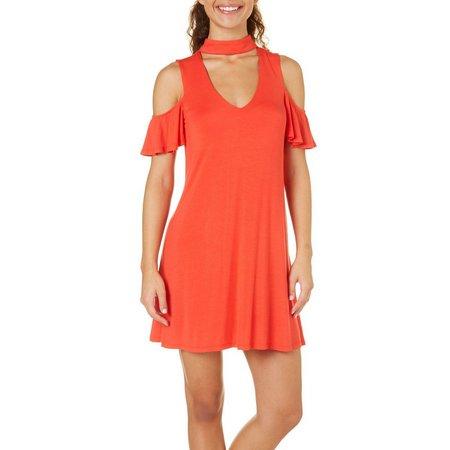 Bailey Blue Juniors Gigi Cold Shoulder Solid Dress