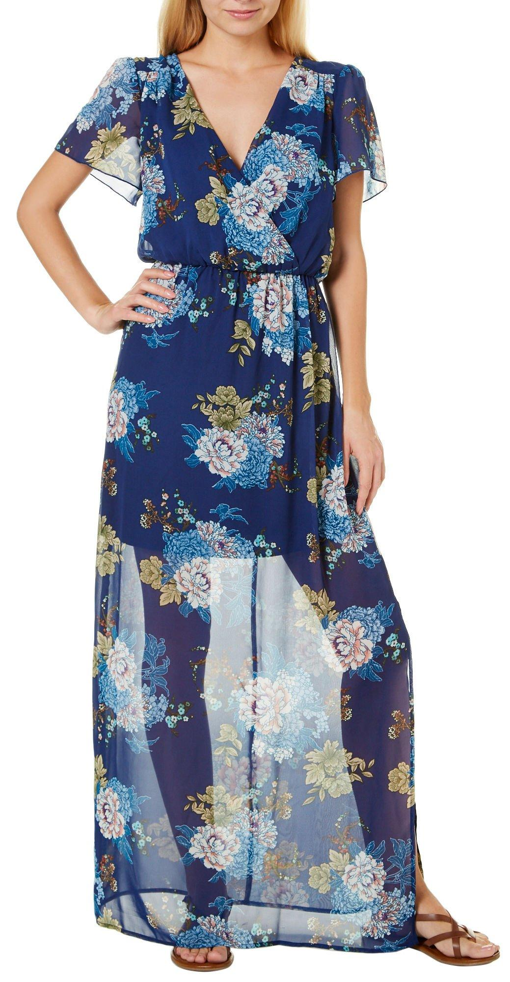 Heart soul navy maxi dress
