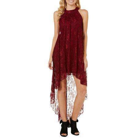 Bailey Blue Juniors Lace High-Low Maxi Dress