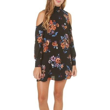 Be Bop Juniors Cold Shoulder Floral Dress