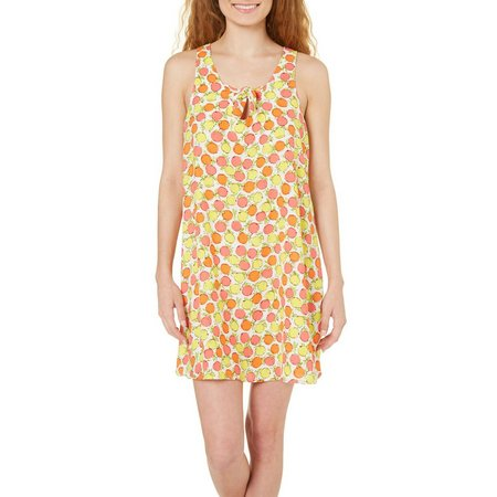 Be Bop Juniors Lemon Print Tie Front Sundress