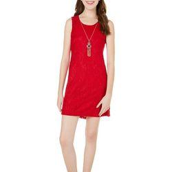 A. Byer Juniors Necklace & Crochet Lace Dress