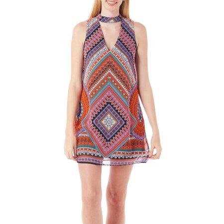 A. Byer Juniors Chevron Printed Gigi Dress