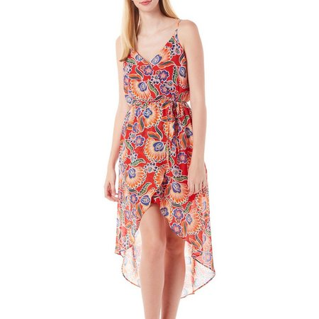 A. Byer Juniors Faux Wrap Tulip Floral Dress