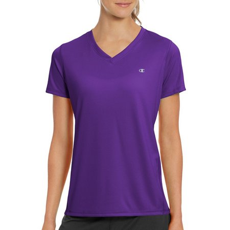 Champion Womens Performance Solid V-Neck T-Shirt