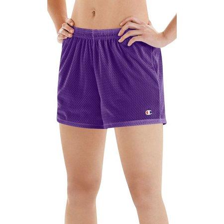 Champion Womens Mesh Elastic Waist Shorts