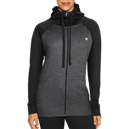 Champion Womens Tech Fleece Drawcord Cowl Full Zip