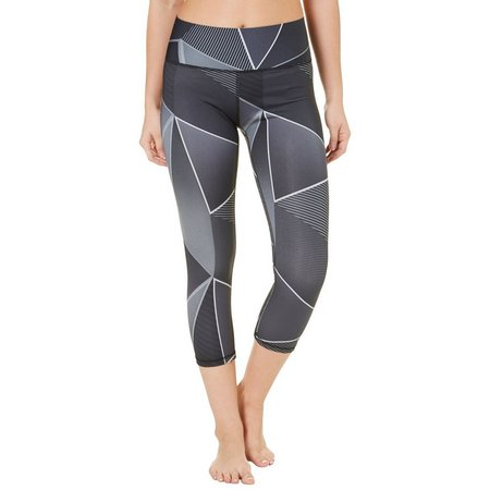 Champion Womens 6.2 Triangles Run Capri Leggings