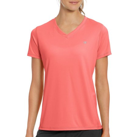 Champion Womens Vapor Solid V-Neck Active T-Shirt