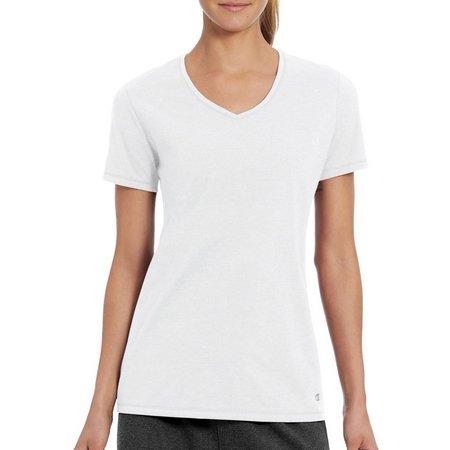 Champion Womens Jersey Knit V-Neck T-Shirt
