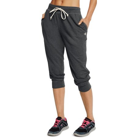 Champion Womens Pull On French Terry Jogger Capris