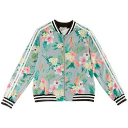 New! Inspired Hearts Juniors Floral Print Bomber Jacket