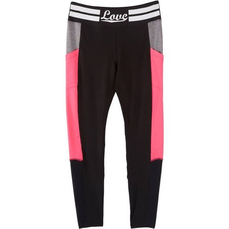 Inspired Hearts Juniors Love Colorblocked Leggings