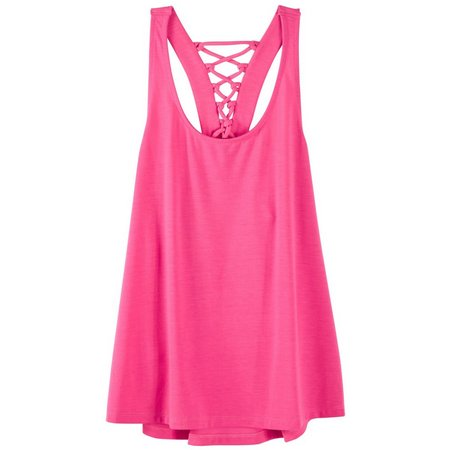 Inspired Hearts Juniors Lace-Up Back Tank Top
