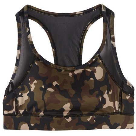 Inspired Hearts Juniors Camo Print Sports Bra