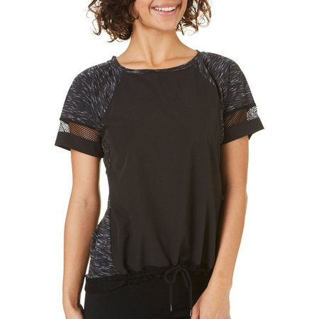 Inspired Hearts Juniors Space Dyed Mesh Trim Top
