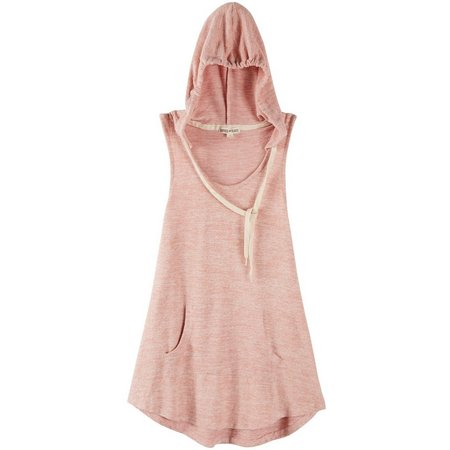 Inspired Hearts Juniors Marled Hooded Tank Top
