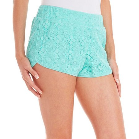 Inspired Hearts Juniors Crochet Lace Shorts