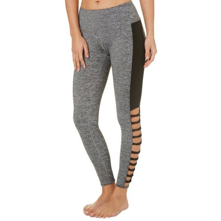 Inspired Hearts Juniors Solid Panel Cutout Leggings