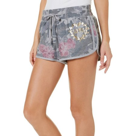 Inspired Hearts Juniors Floral Camo Shorts