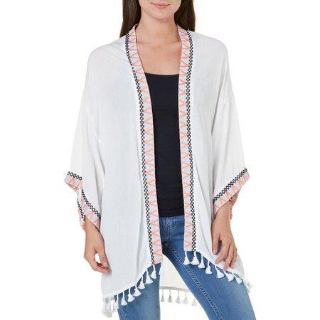 My Michelle Juniors Tassel Kimono Jacket