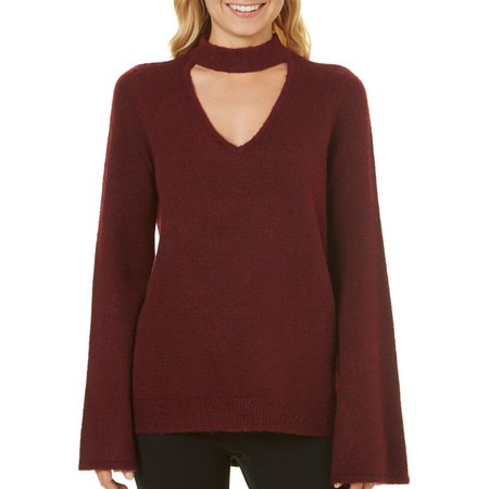 My Michelle Juniors Gigi Bell Sleeve Sweater