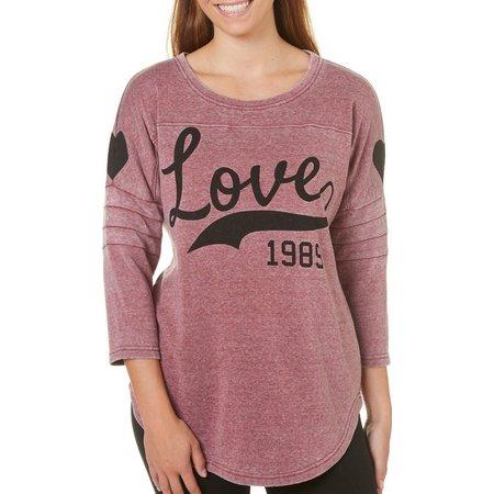 Miss Chievous Juniors Love Sweeper Sweatshirt Top