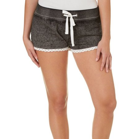 Derek Heart Juniors Burnout Fleece Lined Shorts
