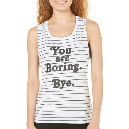 Hybrid Juniors Bralette & You Are Boring Tank