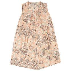 Be Bop Juniors Floral Paisley Gigi Neck Top