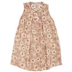 Be Bop Juniors Floral Print Keyhole Gigi Tank