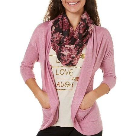 Inspired Hearts Juniors 3-pc. Scarf Tank Cardigan Set