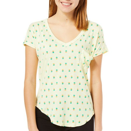 Poof Juniors Pineapple Print T-Shirt