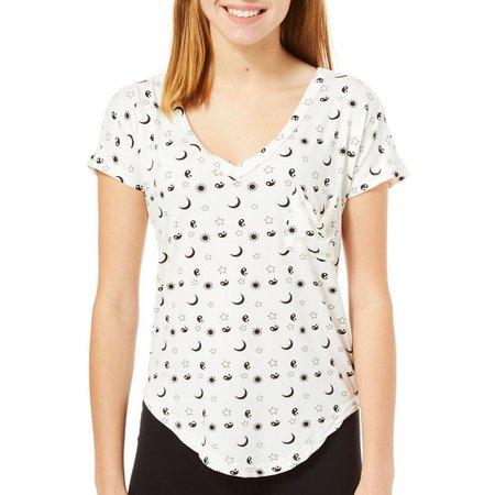 Poof Juniors Celestial Print T-Shirt