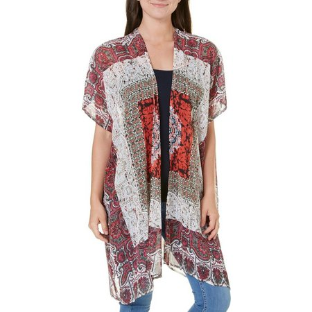 Love By Design Juniors Medallion Kimono Jacket
