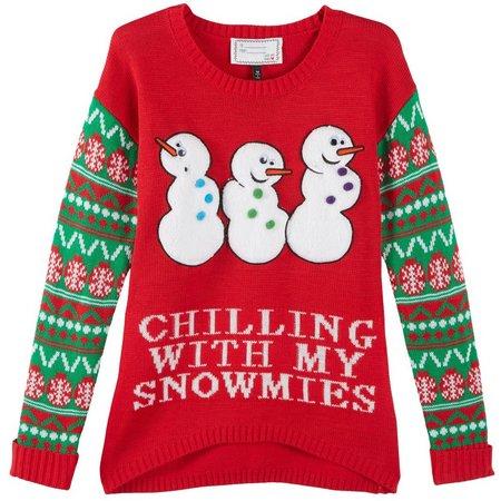 Derek Heart Juniors Snowmies Sweater