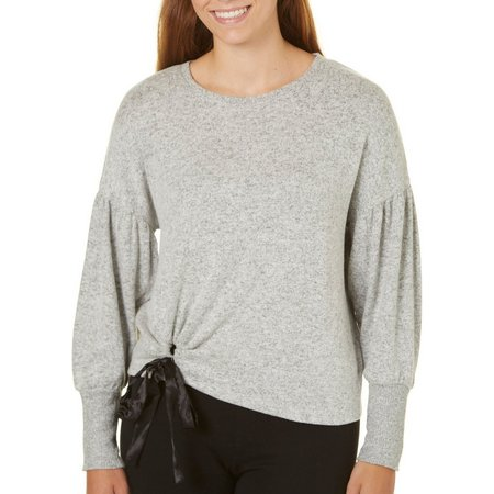 Derek Heart Juniors Tie Front Sweater