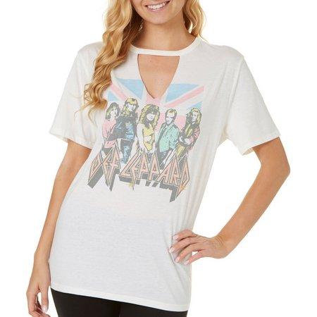 Hybrid Juniors Def Leppard Gigi Neck T-Shirt