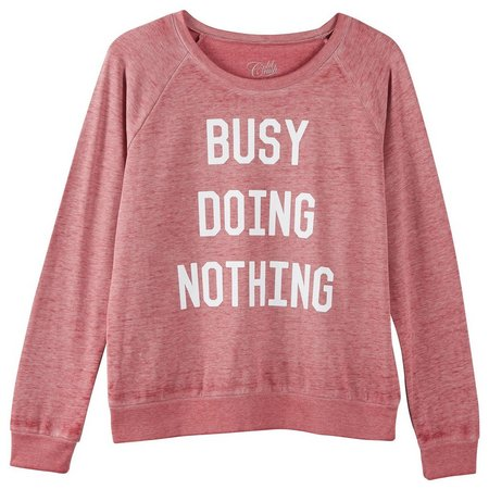 Hybrid Juniors Busy Doing Nothing Sweatshirt
