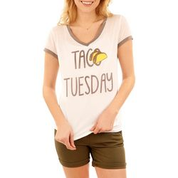 Wallflower Juniors Taco Tuesday Screen T-Shirt