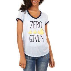 Wallflower Juniors Zero Given Screen Print T-Shirt