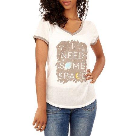 Wallflower Juniors I Need Space Ringer T-Shirt