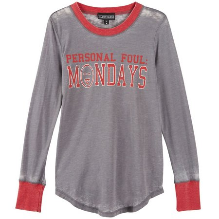 New! Almost Famous Juniors Personal Foul Monday T-Shirt