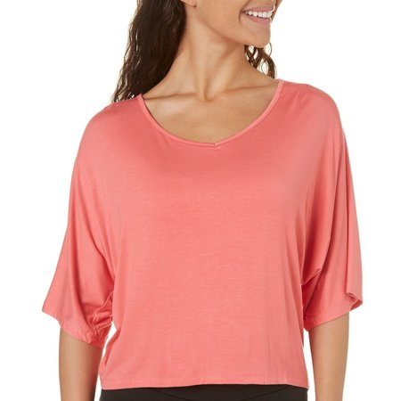 Paper Tee Juniors Braided Open Back Peasant Top