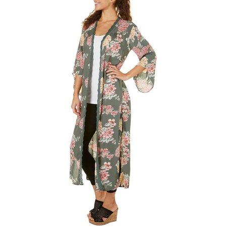 Star of India Juniors Floral Open Kimono Jacket
