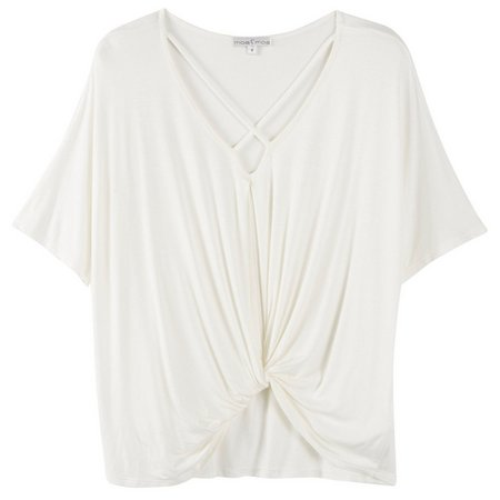Moa Moa Juniors Wrap Knotted Front Dolman Top