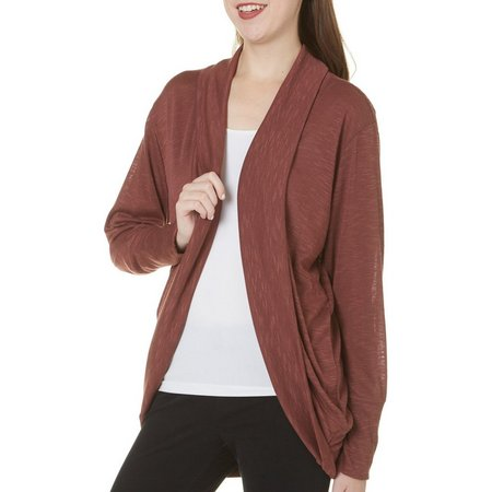 Be Bop Juniors Slub Knit Open Cocoon Cardigan