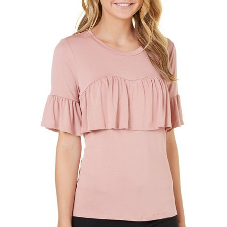 Be Bop Juniors Ruffled Sweetheart Popover Top